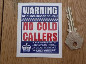 """Warning No Cold Callers Sticker. 3""""."""