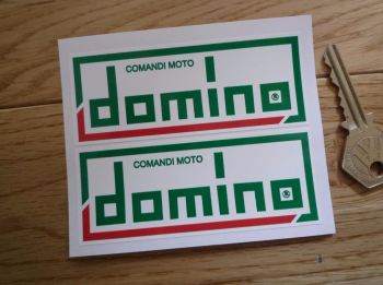 "Domino Comandi Moto Oblong Stickers. 2"", 4"", or 7"" Pair."