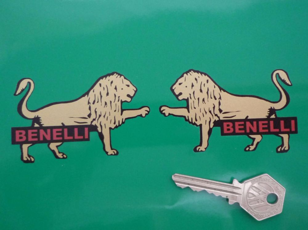 Benelli Gold Lion Stickers. 3