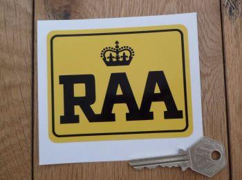 "RAA Royal Automobile Association of South Australia Sticker. 3.75""."