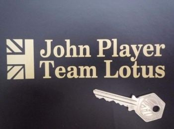 "John Player Team Lotus Cut Text Sticker. 5.5""."