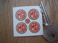 MG Cream Circular Stickers. Set of 4. 18mm.