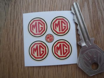 MG Cream Circular Stickers. Set of 4. 18mm.