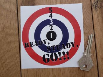 "Ready, Steady, Go! Mods Roundel Sticker. 4""."