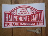 Subaru Impreza 555 1995 Monte Carlo Rally Winner Sticker. 7
