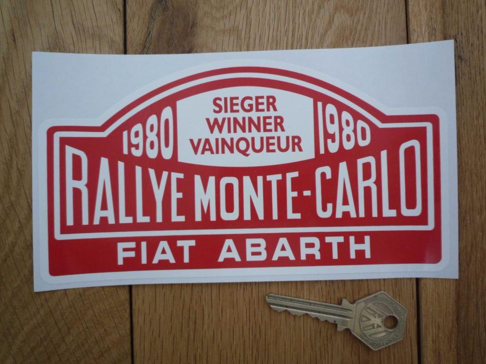 Fiat Abarth 1980 Monte Carlo Rally Winner Sticker. 7