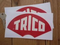 Trico Arched Red & Off White Stickers. 7