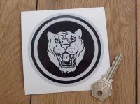 Jaguar Growler Static Cling Sticker. 3.5