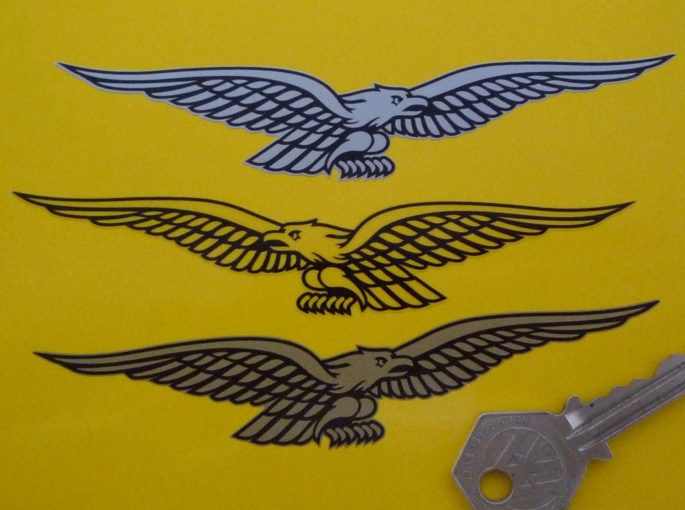 "Moto Guzzi 21st Century Eagle Stickers. 5"" Pair."