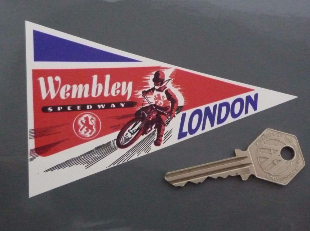 "Wembley Speedway London Sticker. 5""."