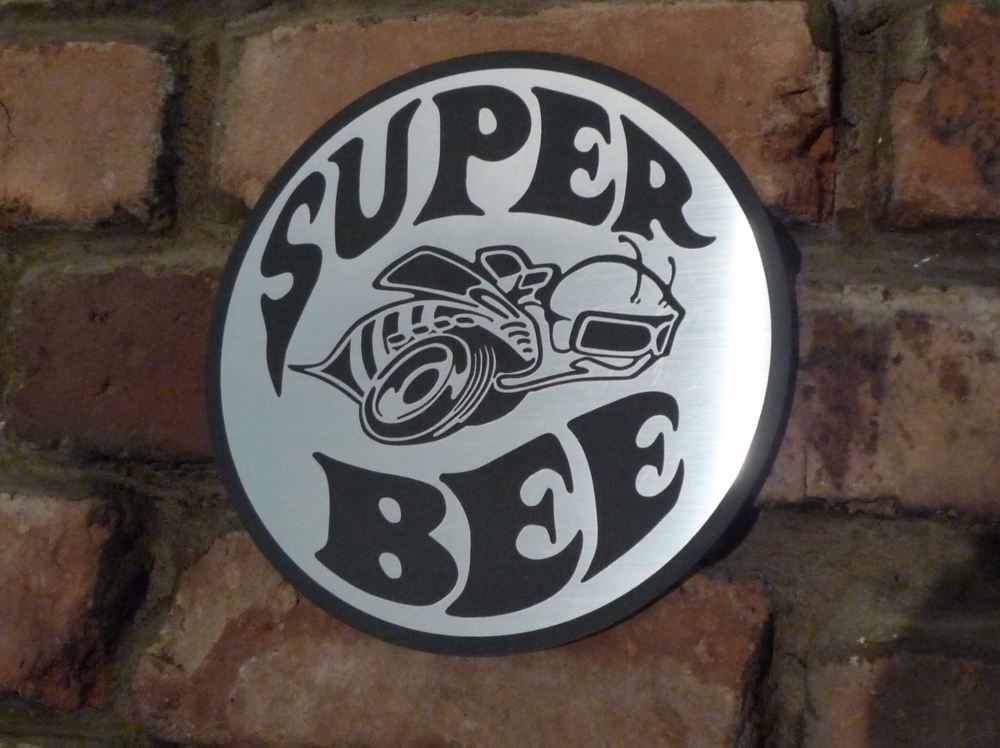 """Dodge Plymouth Super Bee Garage Workshop Wall Plaque Sign. 8""""."""
