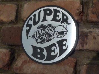 "Dodge Plymouth Super Bee Garage Workshop Wall Plaque Sign. 8""."