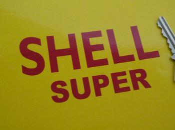"Shell Super Cut Text Sticker. 4"" or 7.5""."