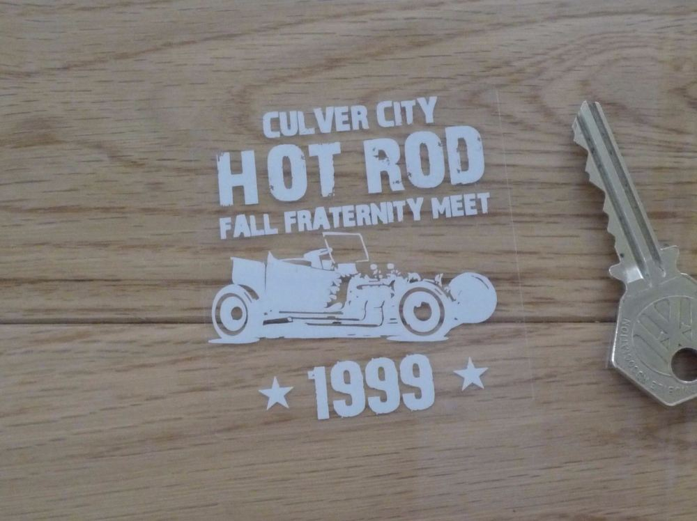 "Culver City Hot Rod Fall Fraternity Meet 1999 Window Sticker. 2.5""."