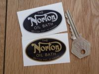 Norton Oil Bath Primary Chaincase Sticker. 2