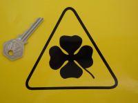 "Alfa Romeo Cut Vinyl Cloverleaf & Outline Stickers. 2.25"" or 4.25"" Pair."