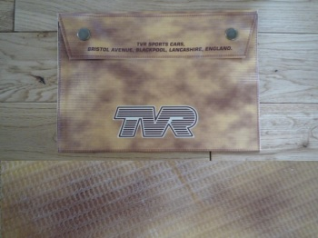 "TVR Document Holder Toolbag. 10"". Slight Second 320."