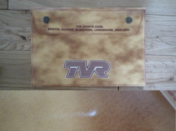 "TVR Document Holder Toolbag. 10"". Slight Second 246."