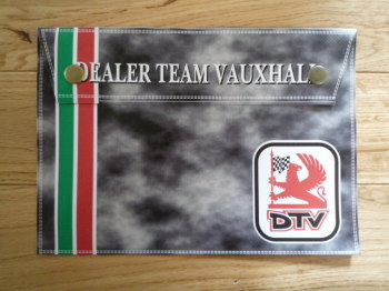 "DTV Dealer Team Vauxhall Document Holder Toolbag. 10"". Slight Second 286."