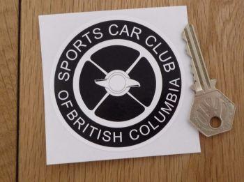 "SCCBC Sports Car Club Of British Columbia Sticker. 3""."