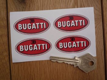 "Bugatti Oval Stickers. 2"" Set of 4."
