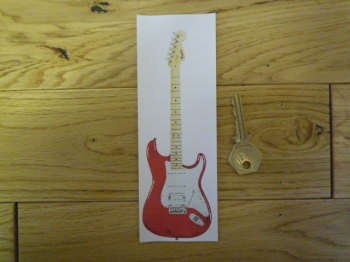 Red Electric Guitar Bookmark/Little Art. BM123.