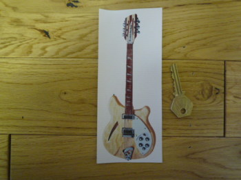 Pine Electric Guitar Bookmark/Little Art. BM141.