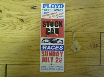 Floyd Speedway Stock Car Races Bookmark/Little Art. BM147.