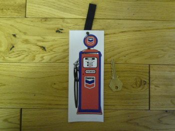 Chevron Petrol Pump Bookmark. BM148.