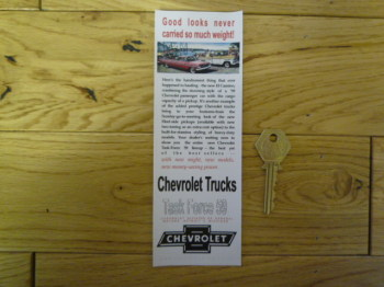 Chevrolet Trucks Bookmark/Little Art. BM156.