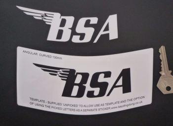 "BSA Stencil Style Angular Curved Text Style Sticker. 5""."