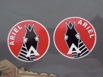 Ariel Horse's Head Handed Logo Stickers. 40mm Pair.