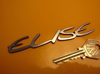 """Lotus Elise Script Laser Cut Self Adhesive Car Badge. 4.25""""."""