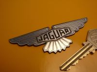 Jaguar Winged Lozenge Logo Laser Cut Self Adhesive Car Badge. 3.5