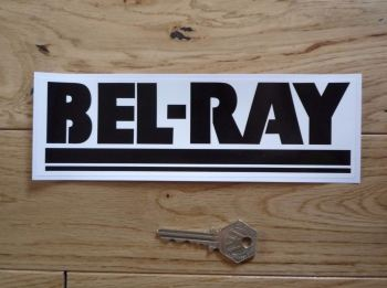 "Bel-Ray Black & White Oblong Sticker. 8""."