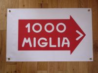 Mille Miglia Rally Art Banner. 28