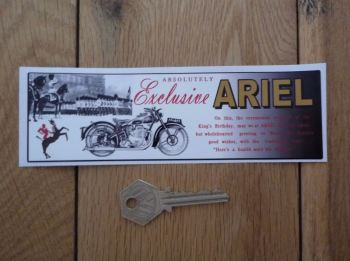 "Ariel Absolutely Exclusive Oblong Sticker. 6.5""."