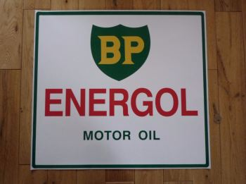 "BP Energol Motor Oil Large Workshop Sticker. 22""."