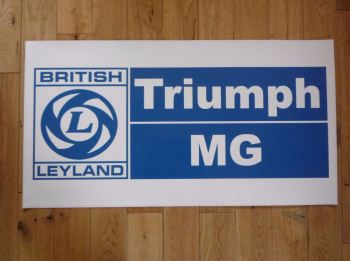 "British Leyland, Triumph & MG, Extra Large Workshop Sticker. 31""."