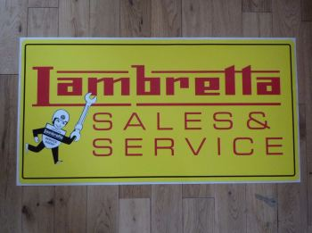"Lambretta Sales & Service Extra Large Workshop Sticker. 31.5""."