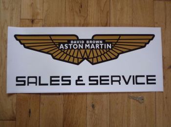 "Aston Martin David Brown Sales & Service Sticker. 23.5""."