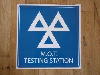 """M.O.T. Testing Station Garage or Workshop Sticker. 15.5""""."""
