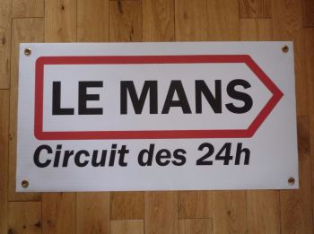 "Le Mans Circuit des 24hs Arrow Art Banner. 29.5""."