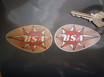 "BSA Full Teardrop Stickers. 3"", 4"", or 6.25"" Pair."