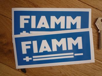 "Fiamm Batteries Oblong Stickers. 3.5"" or 6"" Pair."