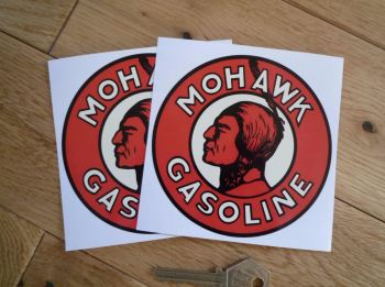 "Mohawk Gasoline Stickers. 4"" Pair."