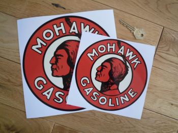 "Mohawk Gasoline Sticker. 6"" or 8""."