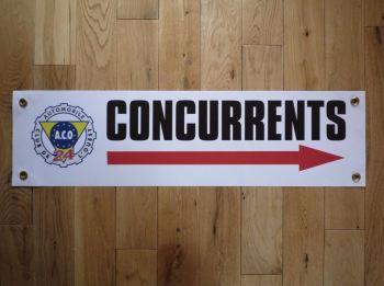 "LeMans A.C.O Concurrents Art Banner. 30""."