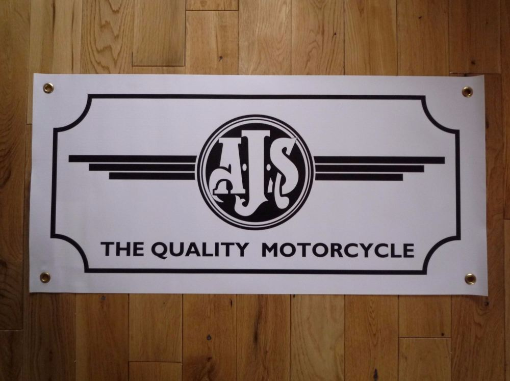 "AJS The Quality Motorcycle Banner Art. 28""."