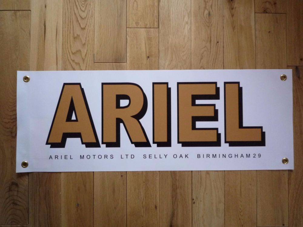 "Ariel Motors Ltd, Selly Oak, Art Banner. 28""."